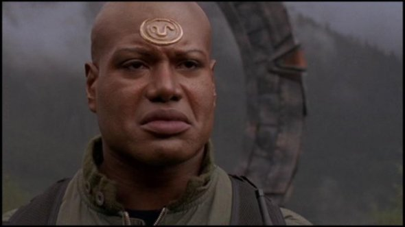 Teal'c hates his helmet...